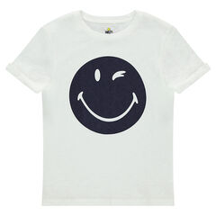 Junior - Tee-shirt manches courtes en jersey print ©Smiley