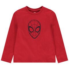 T-shirt manches longues en coton print Spiderman