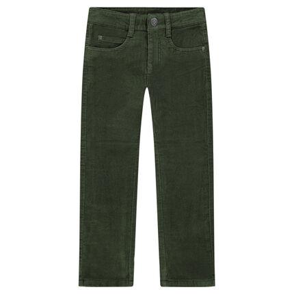 Pantalon en velours ras