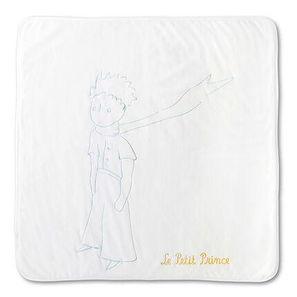Couverture en velours et jersey brodée Le Petit Prince ®