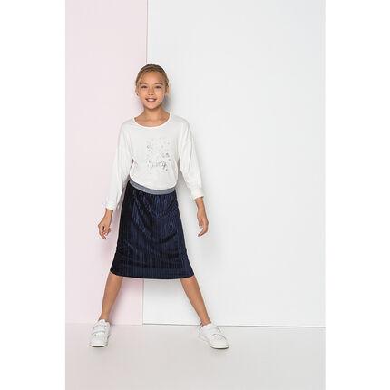 Junior - Jupe plissée avec taille brillante