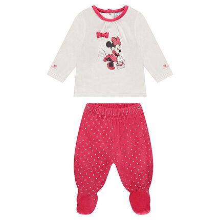 Pyjama en velours bicolore Disney print Minnie