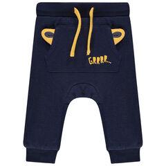 Pantalon de jogging en molleton à poche kangourou et oreilles de tigre