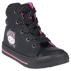 Baskets montantes Hello Kitty à zip et lacets