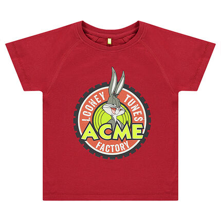 Tee-shirt manches courtes Looney Tunes print Bugs Bunny