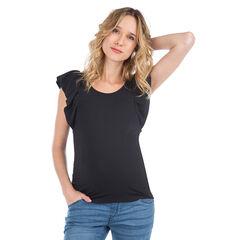 Tee-shirt de grossesse à manches courtes volantées
