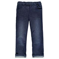 Junior - Jeans brut à taille élastiquée