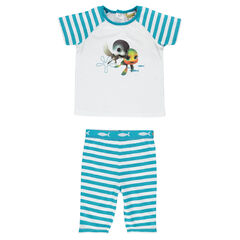 Pyjama court en jersey print Sammy & Co