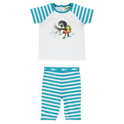 Pyjama court en jersey print Sammy & Co