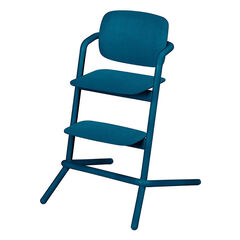 Chaise haute évolutive Lemo Wood - Twilight Blue