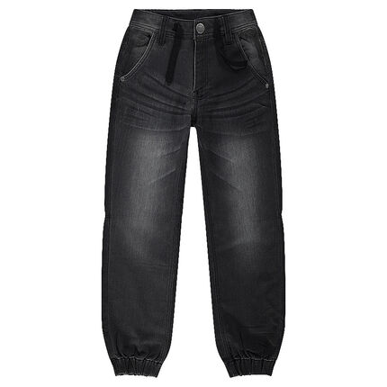 Jeans en molleton effet denim used