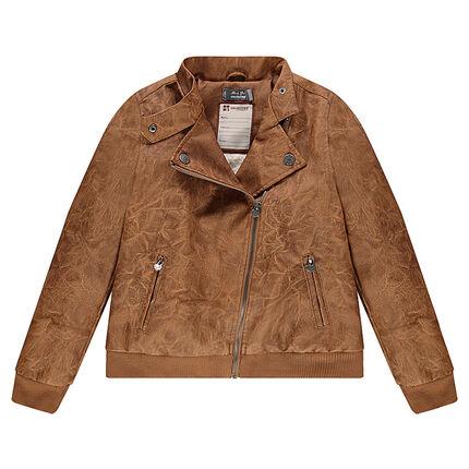 Junior - Perfecto effet cuir doublé sherpa