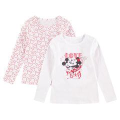 Lot de 2 tee-shirts manches longues en jersey (maillots de corps) Mickey & Minnie ©Disney