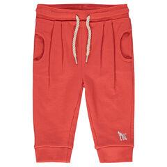 Pantalon loose en molleton uni