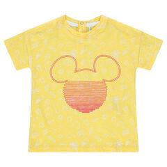 Tee-shirt manches courtes en jersey avec imprimé all-over et print Mickey  ©Disney