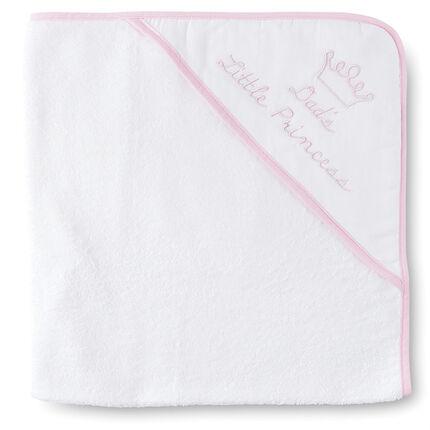 Set de bain cape/gant en coton éponge