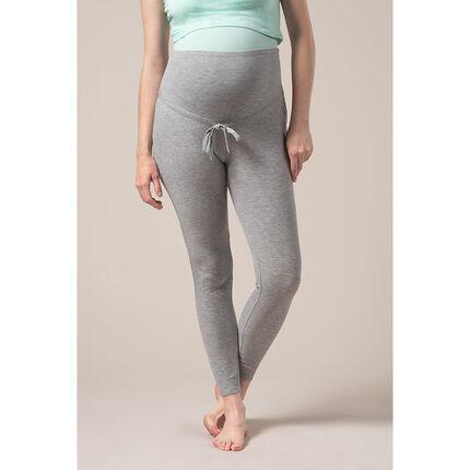 Pantalon de pyjama de grossesse en maille côtelée chinée