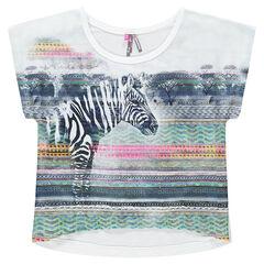 Junior - Tee-shirt manches courtes bi-matière forme boîte