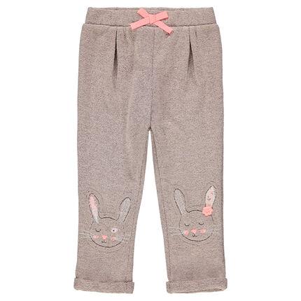 Pantalon de jogging en molleton avec lapins patchés