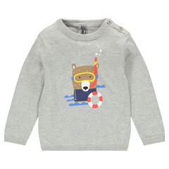 Pull en tricot fin print animal fantaisie