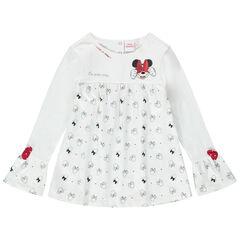 Tunique manches longues avec motifs Minnie Disney printés