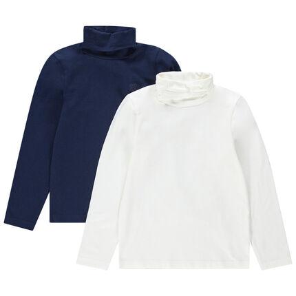 Lot de 2 sous-pull en jersey avec logo ton sur ton printé