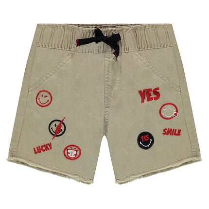 Short en twill avec Badges ©Smiley