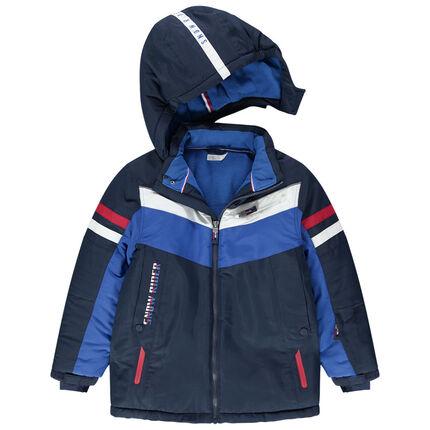 Junior - Blouson de ski imperméable à poches zippées et doublure micropolaire