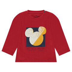 Tee-shirt en coton fantaisie Disney print serti Mickey