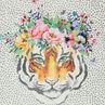 Junior - Tunique manches courtes imprimée all-over avec tigre printé