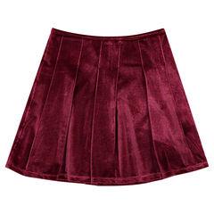 Junior - Jupe plissée en panne de velours