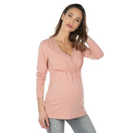 Tee-shirt manches longues de grossesse et d'allaitement