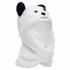 Bonnet écharpe en sherpa forme ours