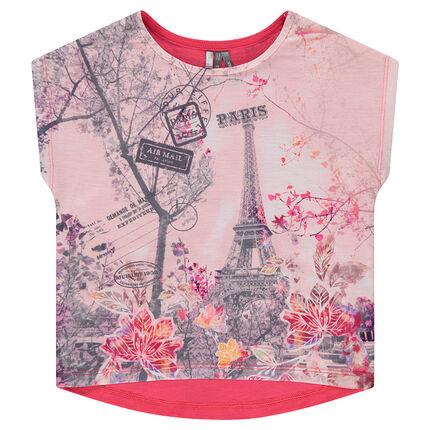 Tee-shirt manches courtes forme boîte avec sublimation sur le devant
