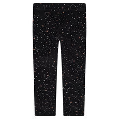 Legging en jersey avec étoiles imprimées all-over