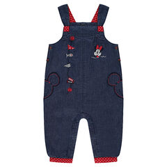 Salopette en chambray Disney avec broderies Minnie