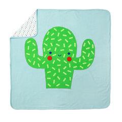 Couverture en jersey à motif/imprimée avec peluche cactus