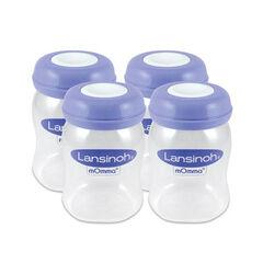 Lot de 4 biberons de conservation du lait - 160ml