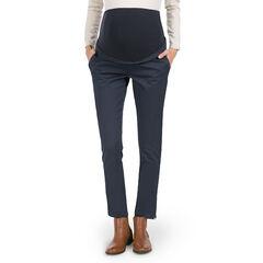 Pantalon de grossesse 7/8ème en twill avec zips , Prémaman
