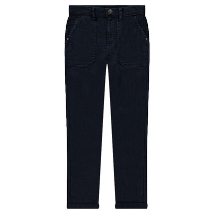 Junior - Pantalon en coton armuré