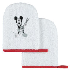 Set de 2 gants de toilette en éponge Disney motif Mickey
