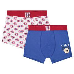 Junior - Boxer en coton avec prints ©Marvel Captain America