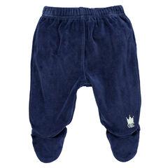 Pantalon en velours uni