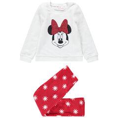 Pyjama en sherpa bicolore avec Minnie Disney en sequins