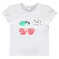Tee-shirt manches courtes fantaisie
