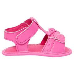 Nu-pieds coloris rose fluo