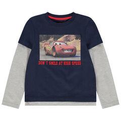 T-shirt manches longues effet 2 en 1 print Cars