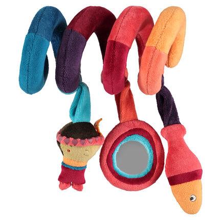 Spirale d'activité en velours multicolore