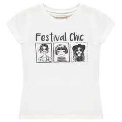 Junior - Tee-shirt manches courtes avec print fantaisie