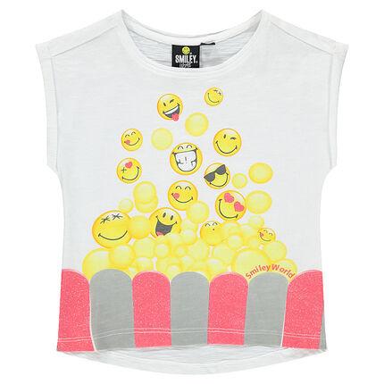 Tee-shirt manches courtes print fantaisie ©Smiley